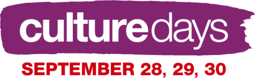 Culture Days Logo Dates Purple Transparent