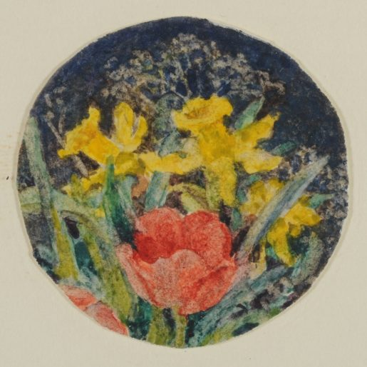 Cumming Kate Taylor Two Daffodils And One Red Tulip C 1943 001 A 45 Lln Re Sized